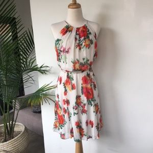 Joie Silk Makana Halter Floral Summer Dress XS S